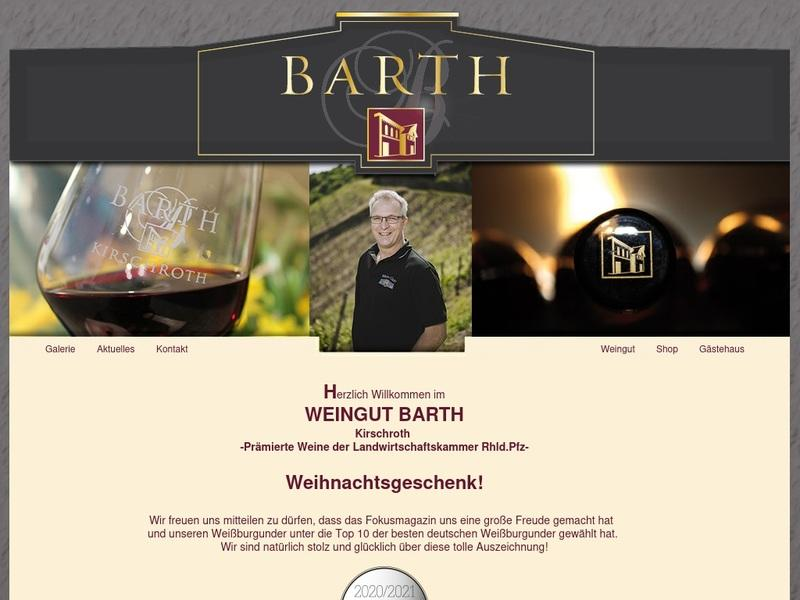 Screenshot von http://www.barth-wein.de