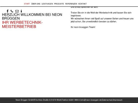 Screenshot von http://www.neon-brueggen.de/index.php
